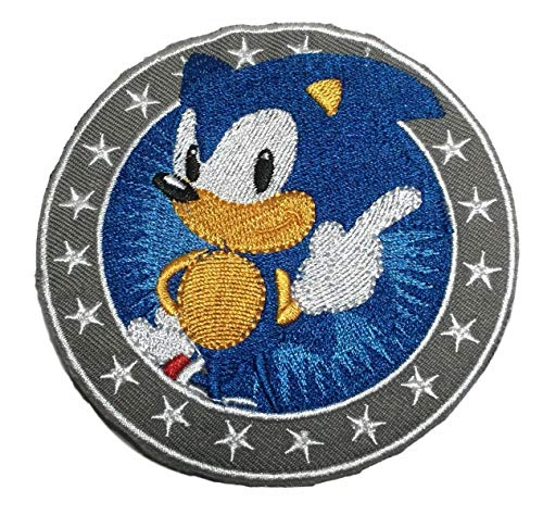 3.5 Inch Hedgehog - Sonic the Hedgehog 3.5 Inches Wide Embroidered Iron on Patch