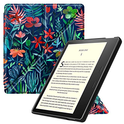 Fintie Origami Case for All-new Kindle Oasis (10th Generation, 2019 Release and 9th Generation, 2017 Release) - Slim Fit Stand Cover Support Hands Free Reading with Auto Wake Sleep, Jungle Night