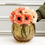 Modern round glass vase/floral ornaments/dining room simulation flower decoration flower-yellow