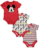 Disney Baby 3-pack Mickey Mouse Short Sleeve Bodysuits