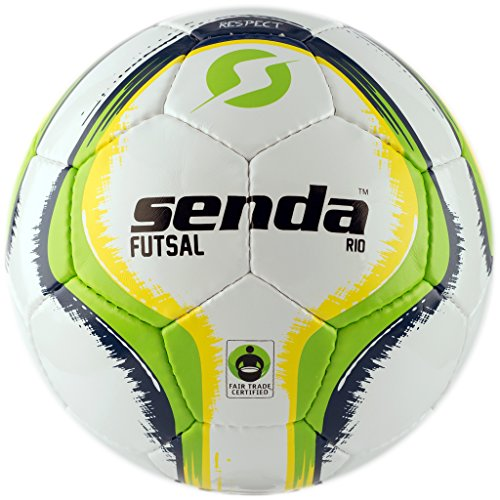 Senda Rio Futsal Training Ball, Fair Trade Certified, Green/Yellow, Size 4 (Ages 13 & Up)