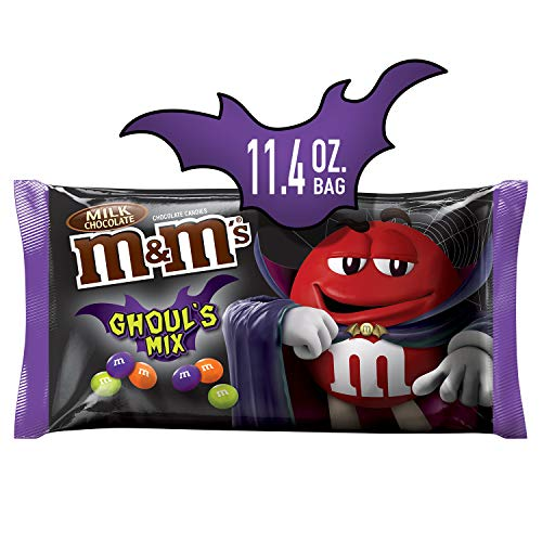 M&M'S Ghoul's Mix Milk Chocolate Halloween Candy, 11.4-Ounce Bag