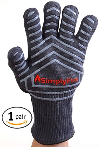 Best Prices! SimplyFire Cooking Gloves | Use As BBQ, Grilling & Oven Gloves | Best Gloves For Barbec...