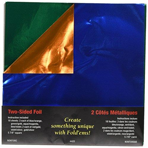 Aqua Foil - Fold 'ems Origami Double-Sided Foil Paper 5.875