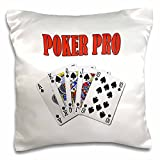 onepicebest Playing Cards - Poker Pro- Funny quote- Popular saying- - 18x18 inch Pillow Case