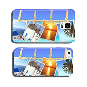Photos of Greece hanging on a rope in front of the sea cell phone cover case iPhone6