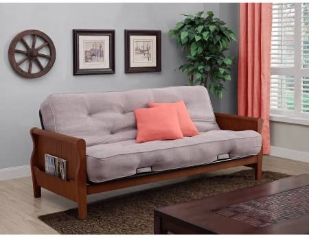 Better Homes and Gardens Wood Arm Futon with 8