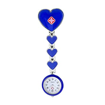 NIGHT WALL Enfermeras Doctores, Encantador Ángel Blanco Enfermeras Reloj Hora médico Cofre Reloj de Bolsillo Reloj Hora Marea Reloj Femenino Reloj de Cuarzo ...
