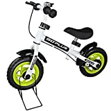 Goplus 10'' Kids Balance Bike No-Pedal Learn To Ride Pre Bike Push Walking Bicycle Adjustable Height & Folding Bike Stand with Bell Ring