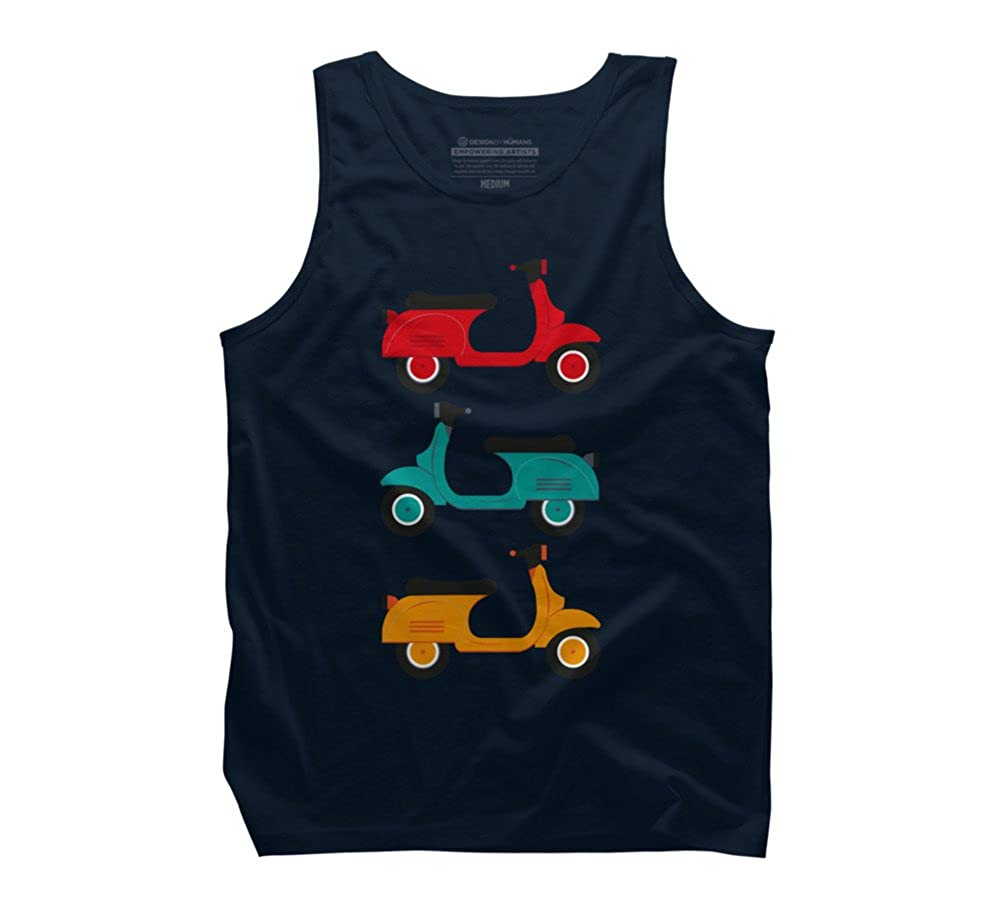 Design By Humans retro and classic motorbike Mens Graphic Tank Top