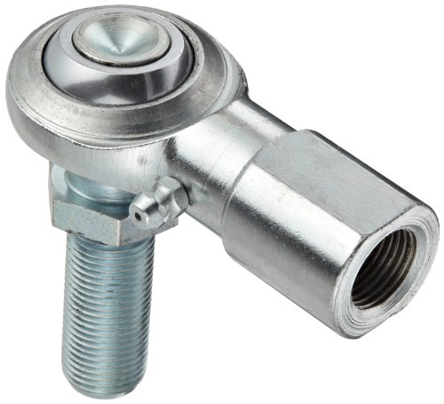 Right Female Rod End (Sealmaster CFF 5YN Rod End Bearing With Y-Stud, Two Piece, Commercial, Regreasable, Right Hand Female to Right Hand Male Shank, 5/16