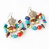 Meolin Colorful Beaded Earrings Elegant Dangle Earrings Vintage Ethnic Earrings