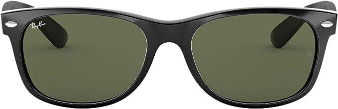 Ray Ban Herren New Wayfarer Sonnenbrille Black Large Herstellergröße 58 Bekleidung