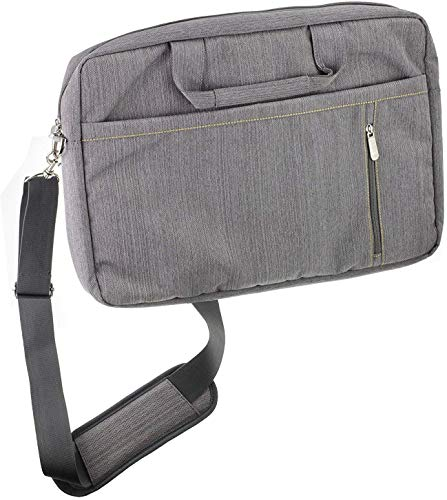 Navitech Grey Premium Messenger/Carry Bag Compatible with The MSI GL63 8SC-059 15.6