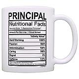 Principal Gifts Principal Nutritional Facts Label Principal Appreciation Gift Coffee Mug Tea Cup