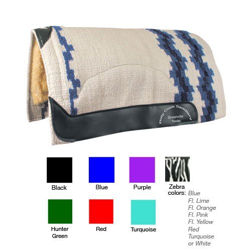 Billy Cook Wool Top Zebra Show Pad - Billy Cook Show Saddle