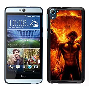 LECELL--Funda protectora / Cubierta / Piel For HTC Desire D826 -- Devil Man Abs Fuego Power Flame --
