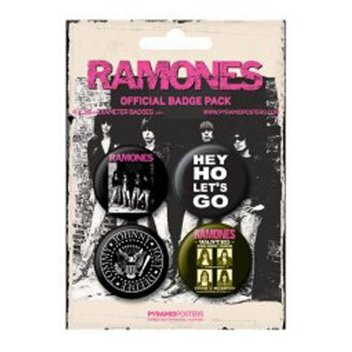 The Ramones - Merchandise - 4 Piece Button / Pin Set (1.5