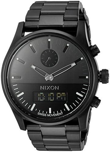 Nixon Men s A932001 Duo Analog-Digital Display Swiss Quartz Black Watch