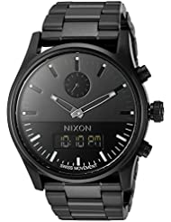 Nixon Mens A932001 Duo Analog-Digital Display Swiss Quartz Black Watch