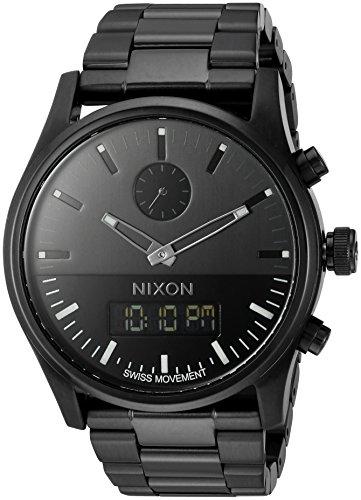 Nixon Men's A932001 Duo Analog-Digital Display Swiss Quartz Black Watch