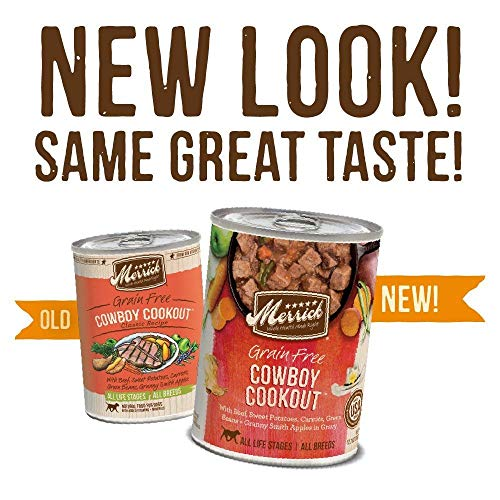 Merrick Classic Grain Free Cowboy Cookout Wet Dog Food, 13.2 Oz, Case Of 12 Cans