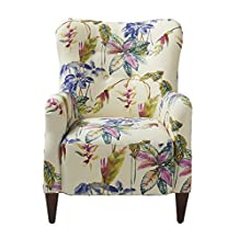 Jennifer Taylor Home, Arm Chair, Multicolored, Cotton Blend, Hand Tufted, Wooden Legs