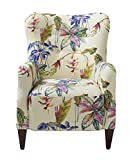 Jennifer Taylor Home Paradise Collection Modern Floral Print Cotton Blend Upholstered Accent Arm Chair With Wooden Legs, Multicolored/Floral Print Review