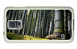 Hipster waterproof Samsung Galaxy S5 Case Bamboo Forest PC White for Samsung S5