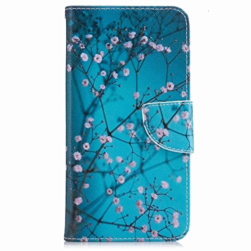 Yiizy Google Pixel Xl Cover, Plum Flower Design Flip Flap Wallet Case Cover Housing Premium Pu Leather Cover Protective Shell Bumper Case Shell Skin Slim Stand Style Slot Cards