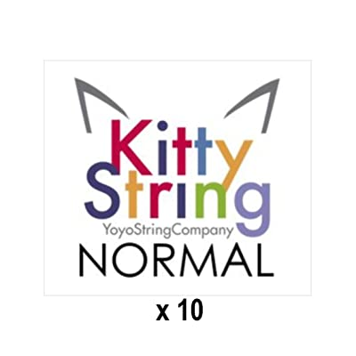 Kitty String Yo-Yo String 10 pk - Normal (Black): Toys & Games