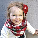 Christmas Red and Green Plaid Flannel Baby Toddler Infinity Scarf