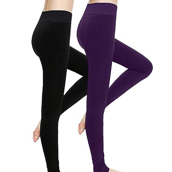 Womens Fleece Lined Thick Tights-2019 New Premium Winter Warm Women Velvet Elastic Leggings Pants