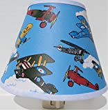 Vintage Airplanes Night Light / Children's Airplane Room Decor For Sale