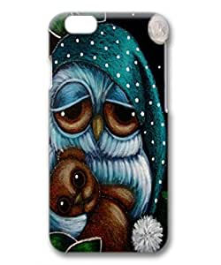 iPhone 6 Case,iPhone 6 PC 3D Case,Shock Absorption Bumper and Anti Scratch Back Soft Scratch Proof PC Case for iPhone 6 ,provides protection against daily wear for iphone 6 cover,sleepy owl with teddy beer by Maris's Diary