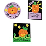 Bargain World Foam Christian Pumpkin Magnet Craft Kit (With Sticky Notes)