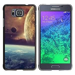 YiPhone /// Prima de resorte delgada de la cubierta del caso de Shell Armor - Space Planet Galaxy Stars 21 - Samsung GALAXY ALPHA G850
