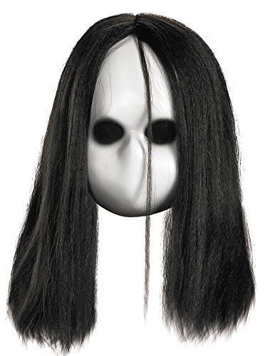 [Scary-Masks Blank Black Eyes Doll Mask Halloween Costume - Most Adults] (Halloween Costumes Scary Doll)