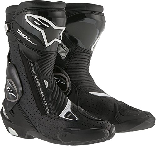 Vented Racing Boots - Alpinestars Mens SMX Plus Vented Boot (Black, EU 45)