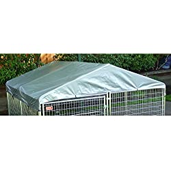 Dog Kennel Cover - WeatherGuard Large All Season Dog Run Cover & Roof - Perfect Fit for 5ft. X 15ft. Outdoor Cages and Pens (5ft. X 15ft)
