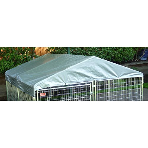 Dog Kennel Cover – WeatherGuard Large All Season Dog Run Cover & Roof – Perfect Fit for 5ft. X 15ft. Outdoor Cages and Pens (5ft. X 15ft)