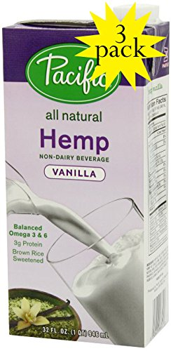 Pacific All Natural Vanilla Hemp Non-dairy Beverage 3-pack by Pacific