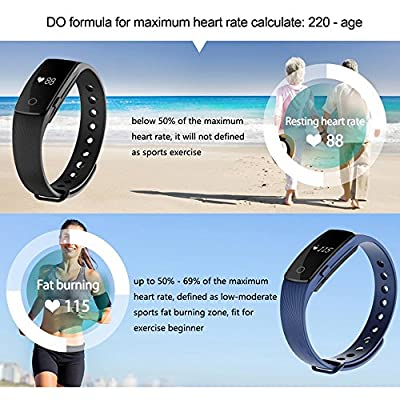 Sports bracelet , AEDILYS Bluetooth 4.0 Smart Bracelet Smart Band Heart Rate Monitor Dynamic Wristband Pedometer Smart band Bracelet Fitness Tracker for IOS Android - Purple