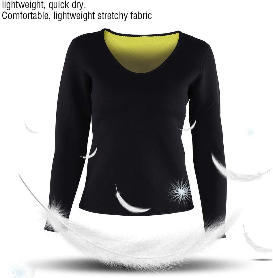 Neoprene Body Sweat Sauna Shirt Weight Loss Bodysuits for Fitness Dilwe Women Slimming Shirt