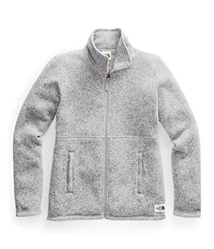 The North Face Women's Crescent Full-Zip, TNF Light Grey Heather, M (Womens North Face Fleeces)
