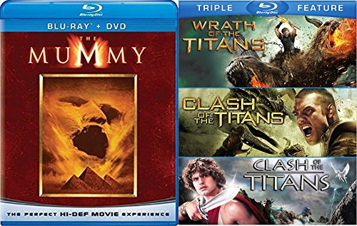 Clash of the Titans / Wrath of the Titans Triple + The Mummy Amazing Fantasy Four Movie Feature (4 Film Favorites Stephen King)