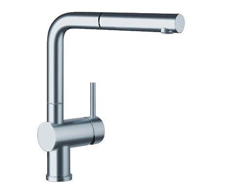Blanco LINUS-S Küchenarmatur, metallische Oberfläche, Edelstahl ...