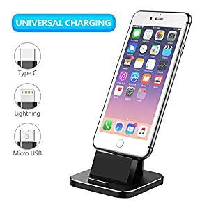 Cell Phone Charger Dock, XUNMEJ Universal Desktop Charging Stand Station for All Android Smartphone Samsung, iPhone X 8…