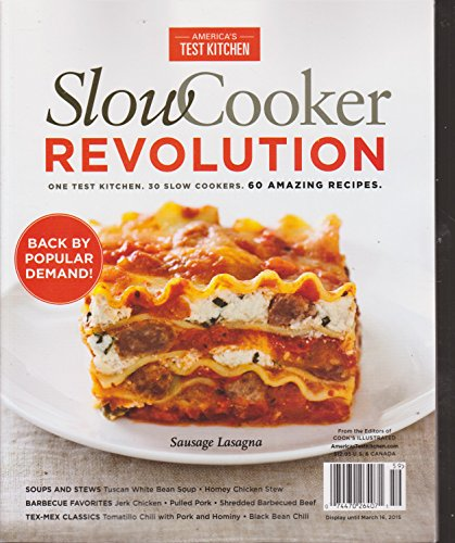 America's Test Kitchen Slow Cooker Revolution Magazine 2015