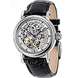 Top Brand Seagull Fully Automatc Self Wind Fashion&casual Men Watches Double Skeleton Black Genuine Leather M182sk